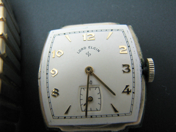 Vintage 1948 Lord Elgin Watch in 14k Gold Filled