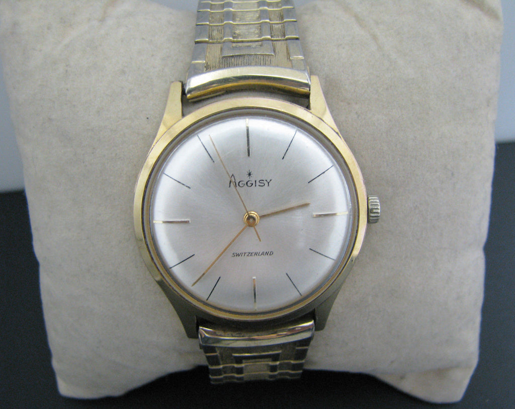 Handsome 1960's Men's Aggisy Watch in Gold Tone