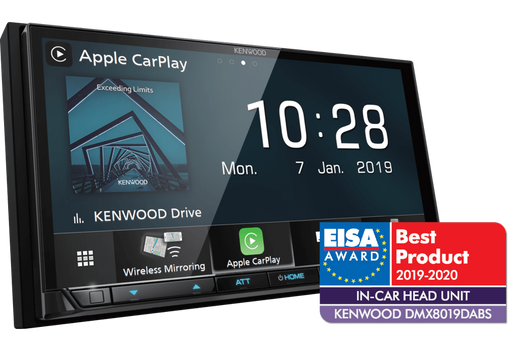 Multimedija automobiliui Kenwood DMX-8019DABS, 2-DIN, USB, BLUETOOTH, WiFi Apple CarPlay, WiFi Android Auto Multimedija Kenwood AUTOGARSAS.LT