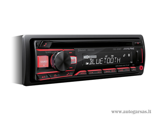 Magnetola automobiliui Alpine CDE-203BT, CD, USB, BLUETOOTH
