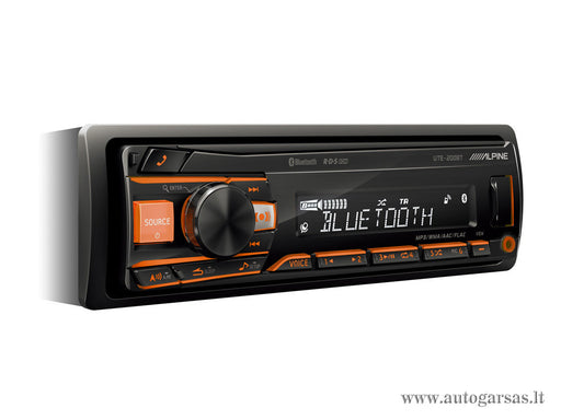 Magnetola automobiliui Alpine UTE-200BT, USB, BLUETOOTH