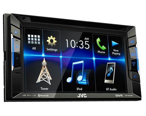 Multimedija automobiliui JVC KW-V230BT, 2-DIN, DVD, CD, USB, BLUETOOTH Multimedija JVC AUTOGARSAS.LT