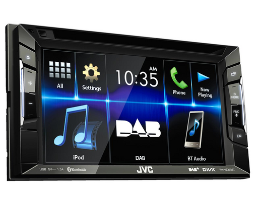 Multimedija automobiliui JVC KW-V235DBT, 2-DIN, DVD, CD, USB, DAB+, BLUETOOTH Multimedija JVC AUTOGARSAS.LT