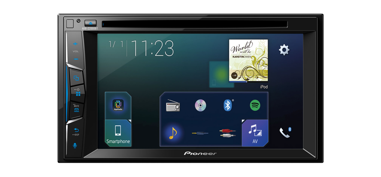 Multimedija automobiliui Pioneer AVH-Z2000BT, 2-DIN, USB, BLUETOOTH, Apple CarPlay, Waze Multimedija Pioneer AUTOGARSAS.LT