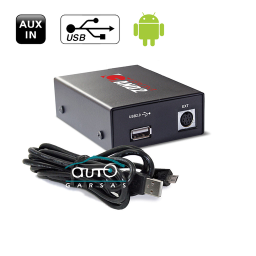 Adapteris Grom USB MP3 skirtas Chrysler Dodge Jeep AV/USB/AUX/BT adapteriai Grom AUTOGARSAS.LT