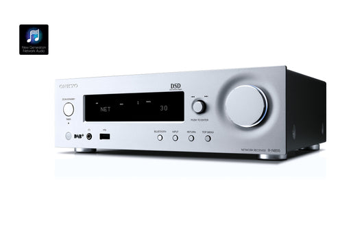 Tinklinis stereo resyveris Onkyo R-N855 2.1, 2x70W, Bluetooth, AirPlay-AUTOGARSAS.LT