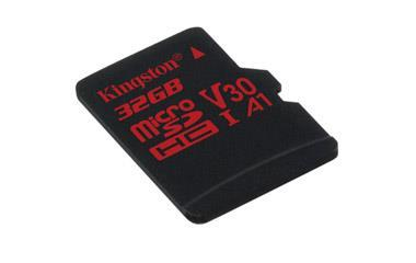 Atminties kortelė Kingston microSDHC Canvas React 32GB 100/70 U3 UHS-I V30 A1 Vaizdo registratoriai - radarų detektoriai Kingston AUTOGARSAS.LT