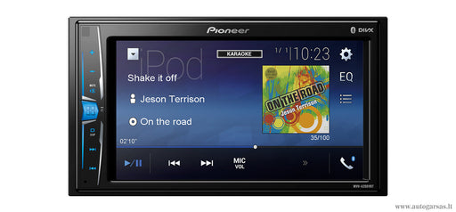 Multimedija automobiliui Pioneer MVH-A200VBT su 6.2″ ekranu, iPod/iPhone, USB, AUX, BLUETOOTH