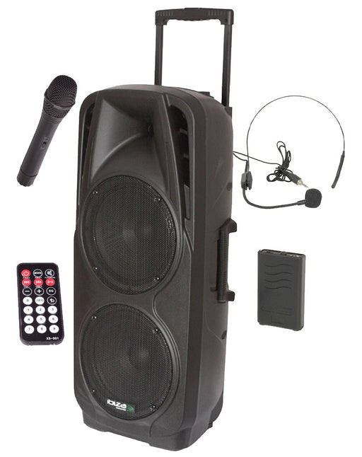 Nešiojama garso sistema Ibiza-Sound PORT225VHF-BT, MP3 / WMA / BLUETOOTH, 600W