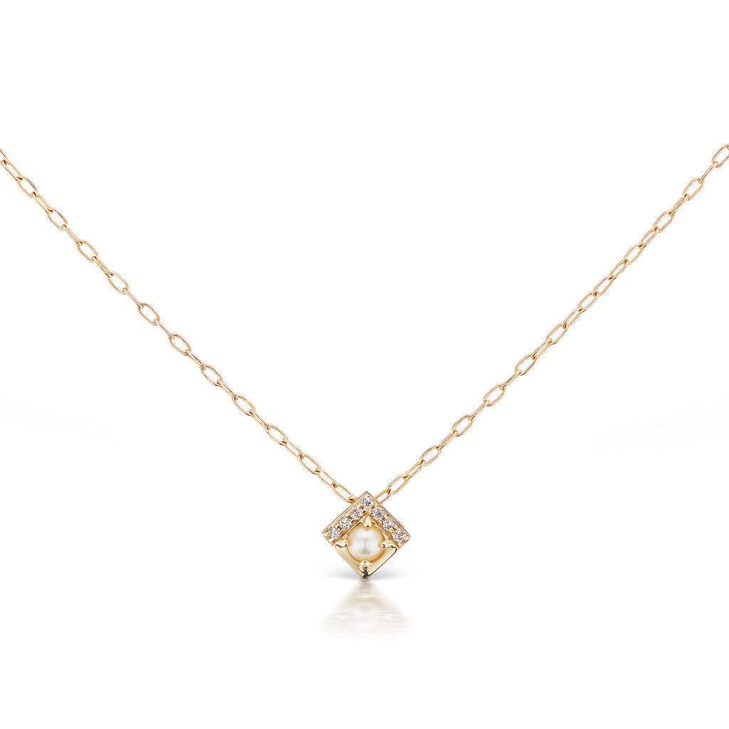 Pearl Petite Square Necklace