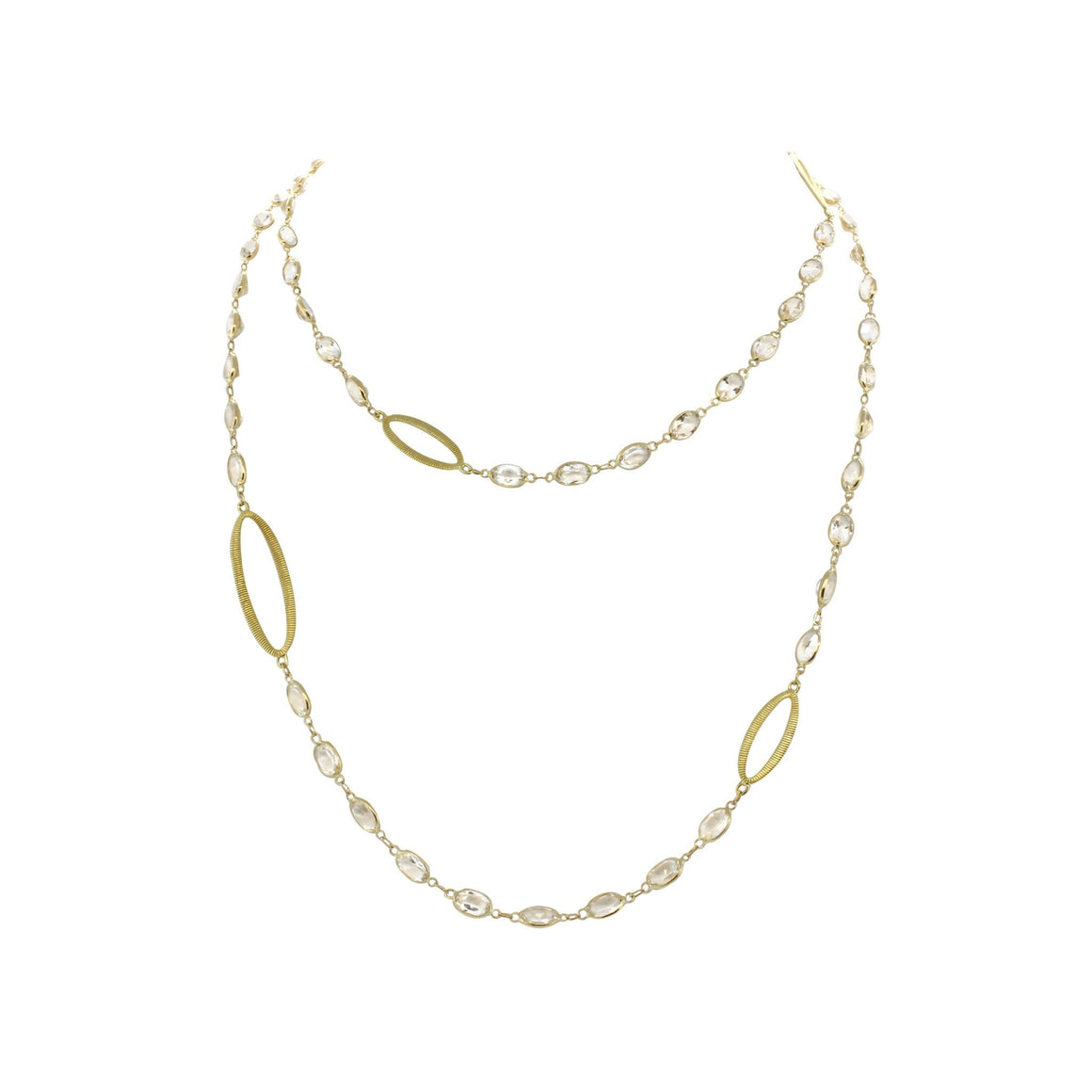 Gold and White Topaz Necklace-Sloane Street-Duncan & Boyd Jewelers