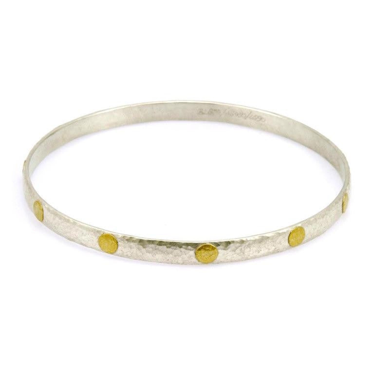 Gold Flakes Silver Bangle Bracelet-Gurhan-Duncan & Boyd Jewelers
