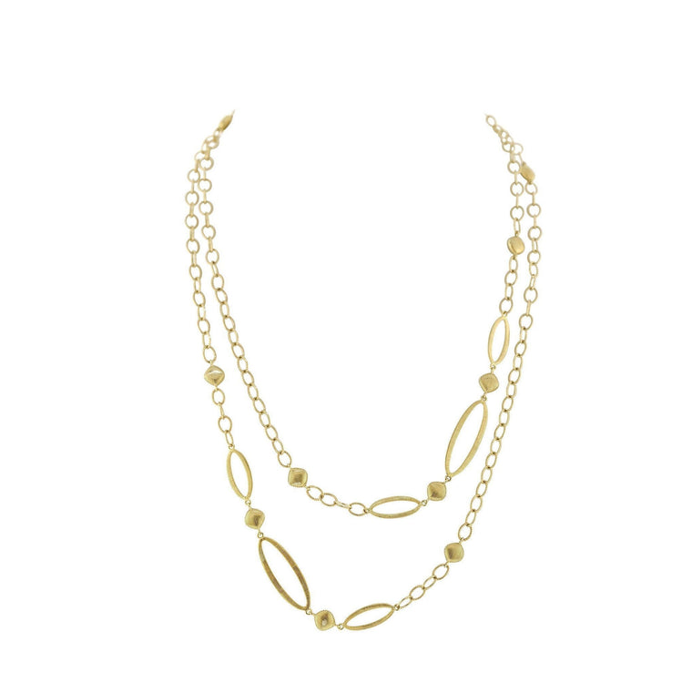 Gold Multiple Chain Necklace-Sloane Street-Duncan & Boyd Jewelers