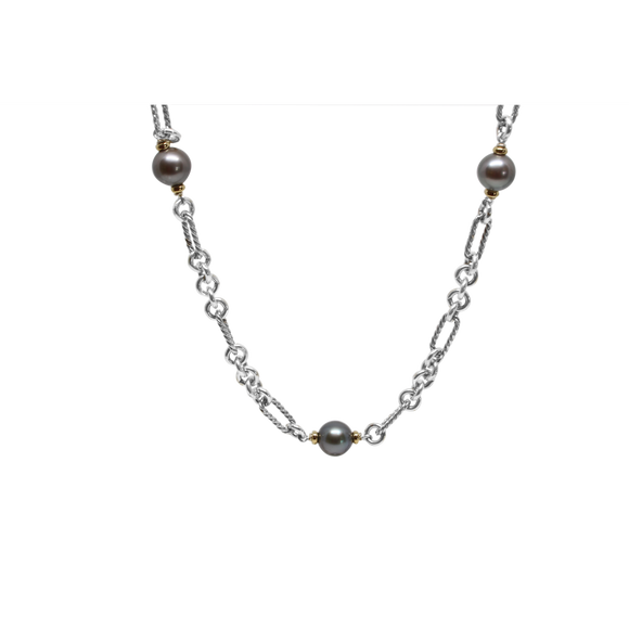 Grey Pearl Necklace-David Yurman-Duncan & Boyd Jewelers
