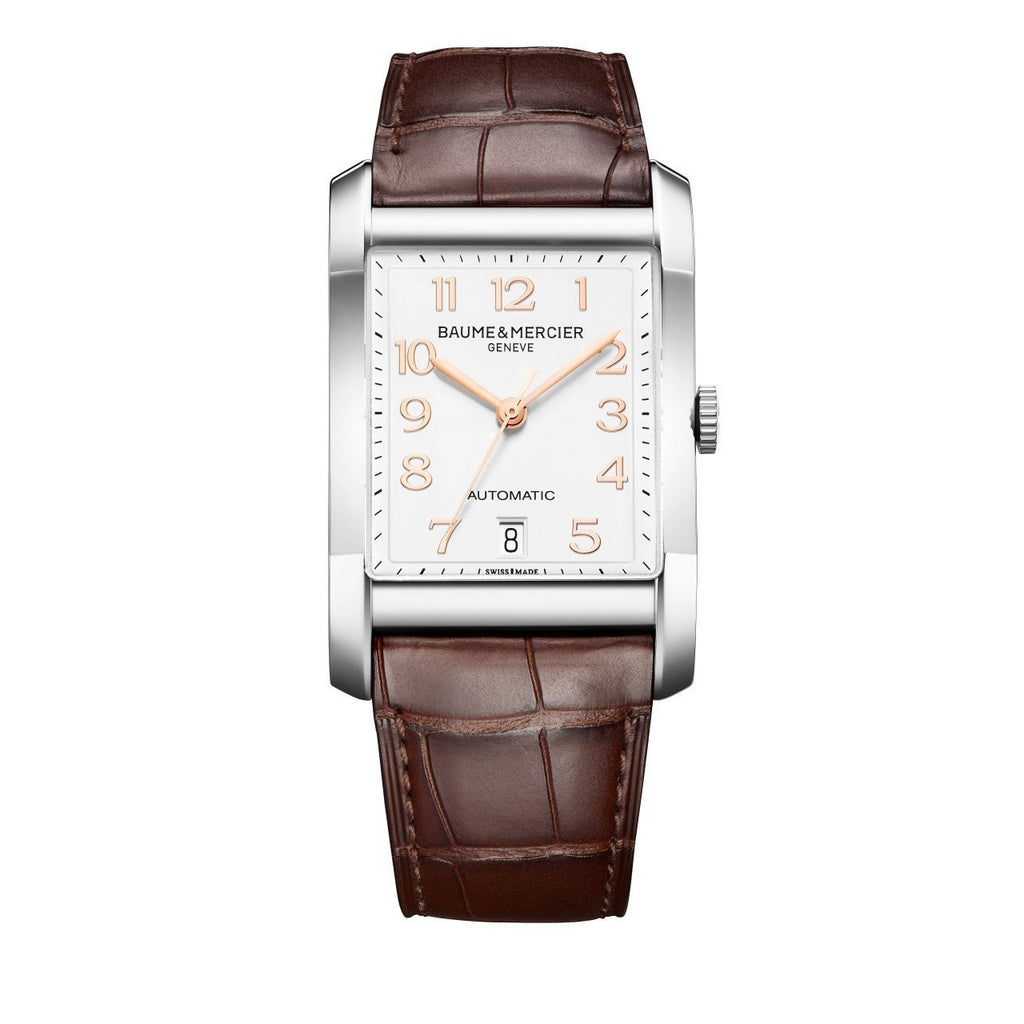 Hampton Brown Alligator Leather Watch-Baume & Mercier-Duncan & Boyd Jewelers