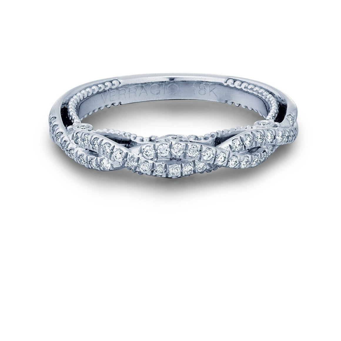 Insignia Crossover Wedding Band-Verragio-Duncan & Boyd Jewelers