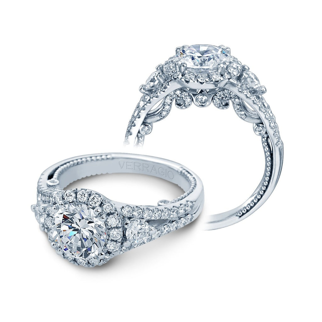 Insignia Halo Engagement Ring-Verragio-Duncan & Boyd Jewelers