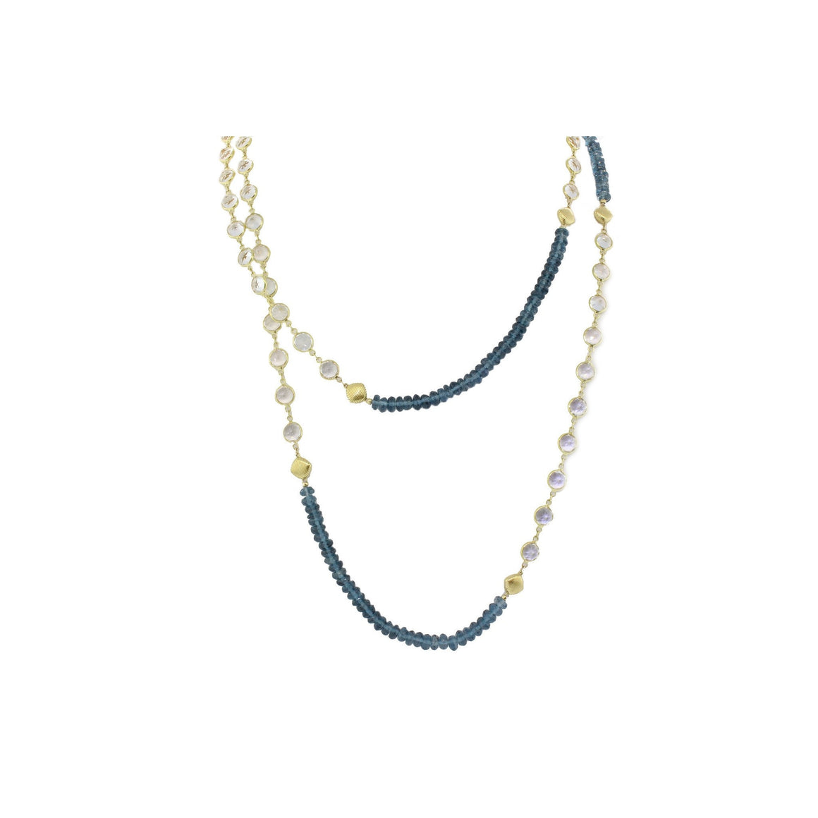 London Blue and White Topaz Necklace-Sloane Street-Duncan & Boyd Jewelers
