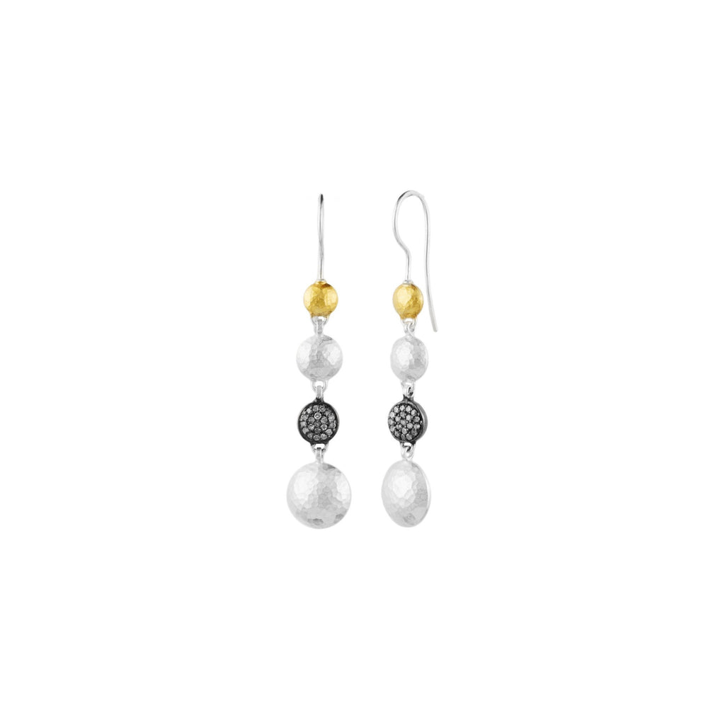 Long Lentil Pave Earrings-Gurhan-Duncan & Boyd Jewelers