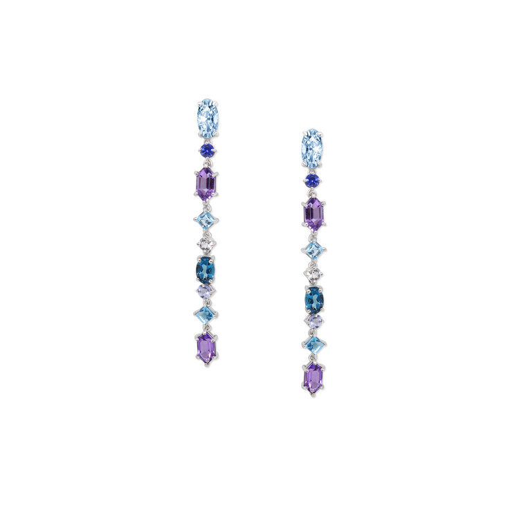 Long Multicolored Dangle Earrings-Jane Taylor-Duncan & Boyd Jewelers