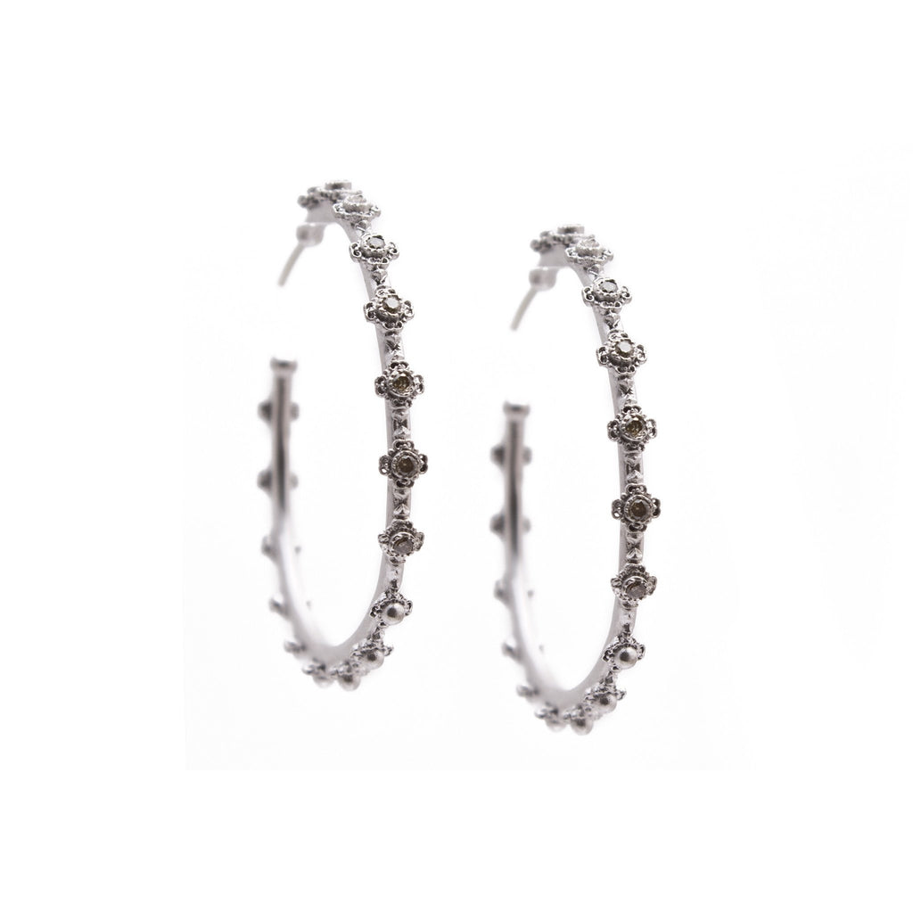 Mini Cross Hoop Earring-Armenta-Duncan & Boyd Jewelers