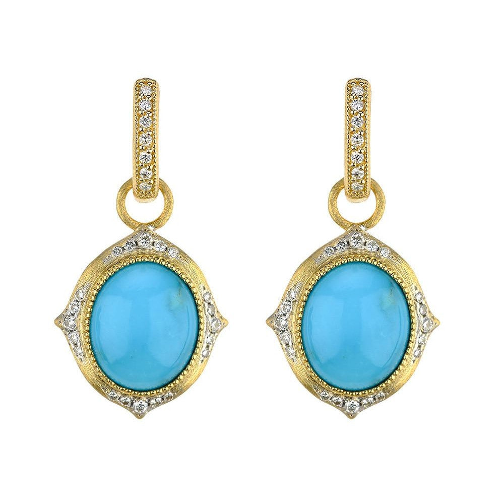 Moroccan Diamond Oval Earring Charms-Jude Frances-Duncan & Boyd Jewelers