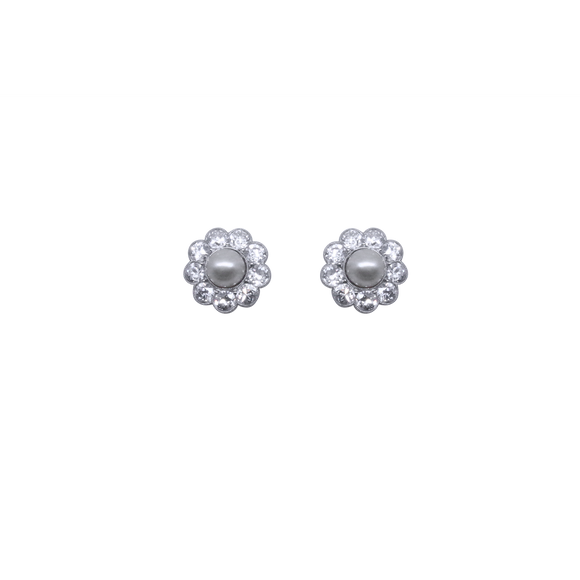 Pearl and Diamond Studs-Duncan & Boyd Jewelers-Duncan & Boyd Jewelers