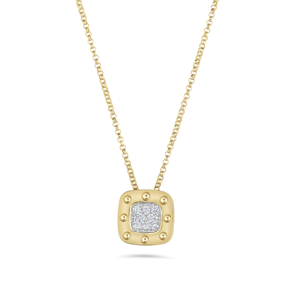 Pois Moi Square Pendant-Roberto Coin-Duncan & Boyd Jewelers