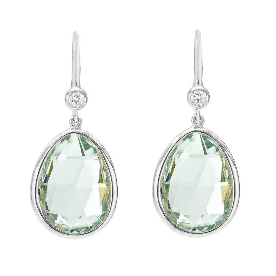 Prasiolite and Diamond Earrings-Duncan & Boyd Jewelers-Duncan & Boyd Jewelers