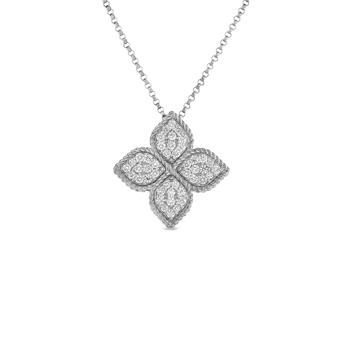 Princess Flower Large Pendant-Roberto Coin-Duncan & Boyd Jewelers