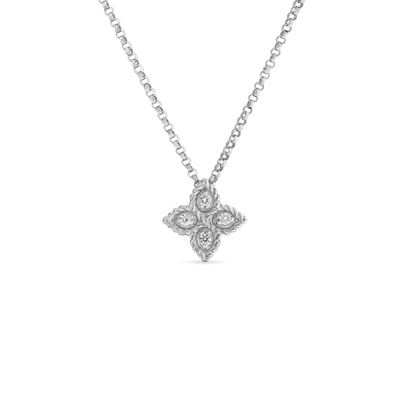 Princess Flower Small Pendant-Roberto Coin-Duncan & Boyd Jewelers