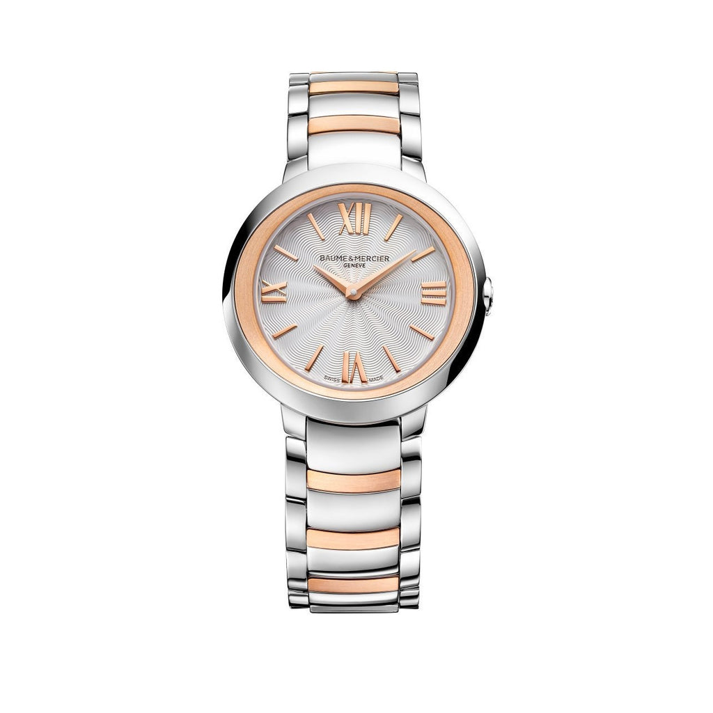 Promesse Red Gold and Stainless Steel Watch-Baume & Mercier-Duncan & Boyd Jewelers