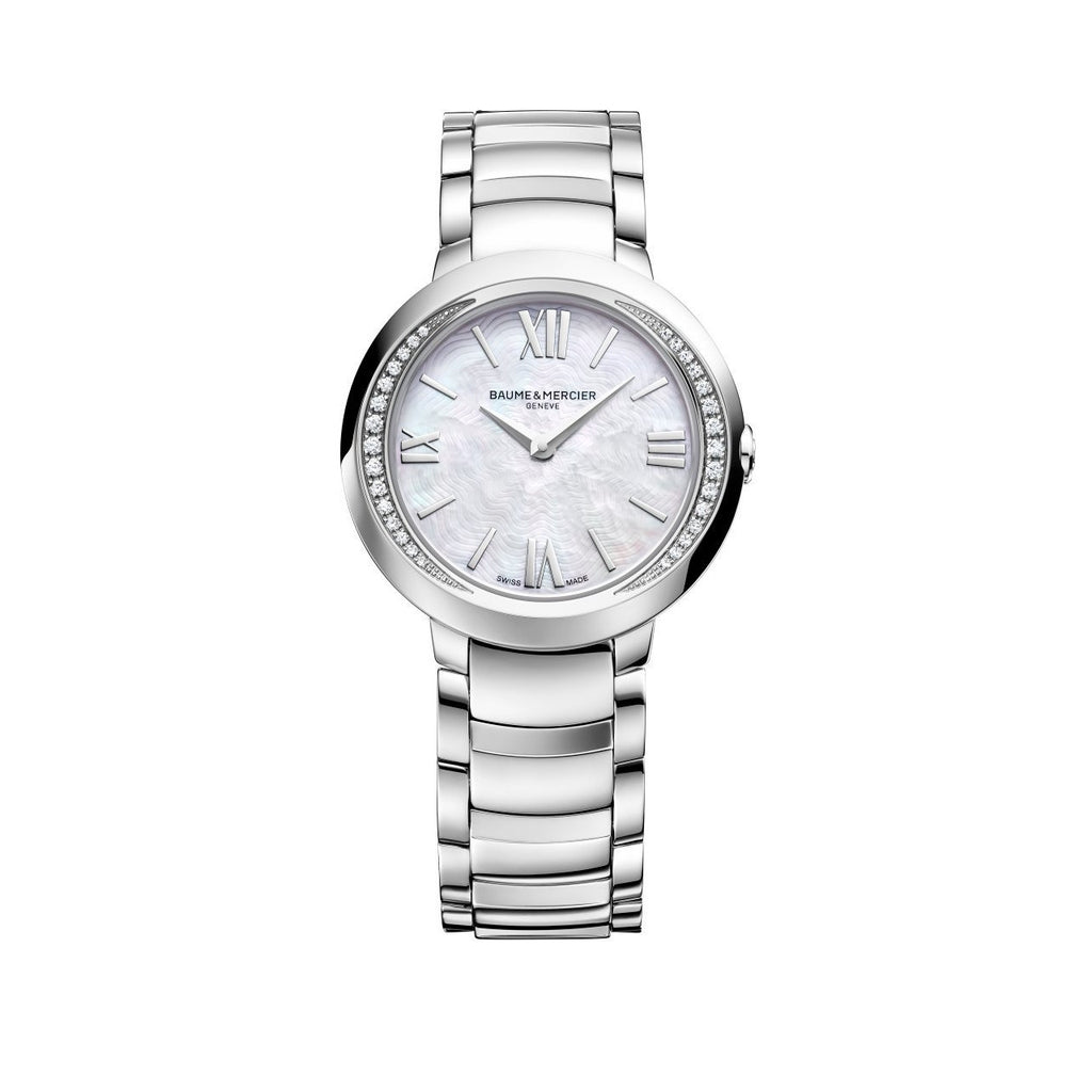 Promesse Stainless Steel Diamond Watch-Baume & Mercier-Duncan & Boyd Jewelers