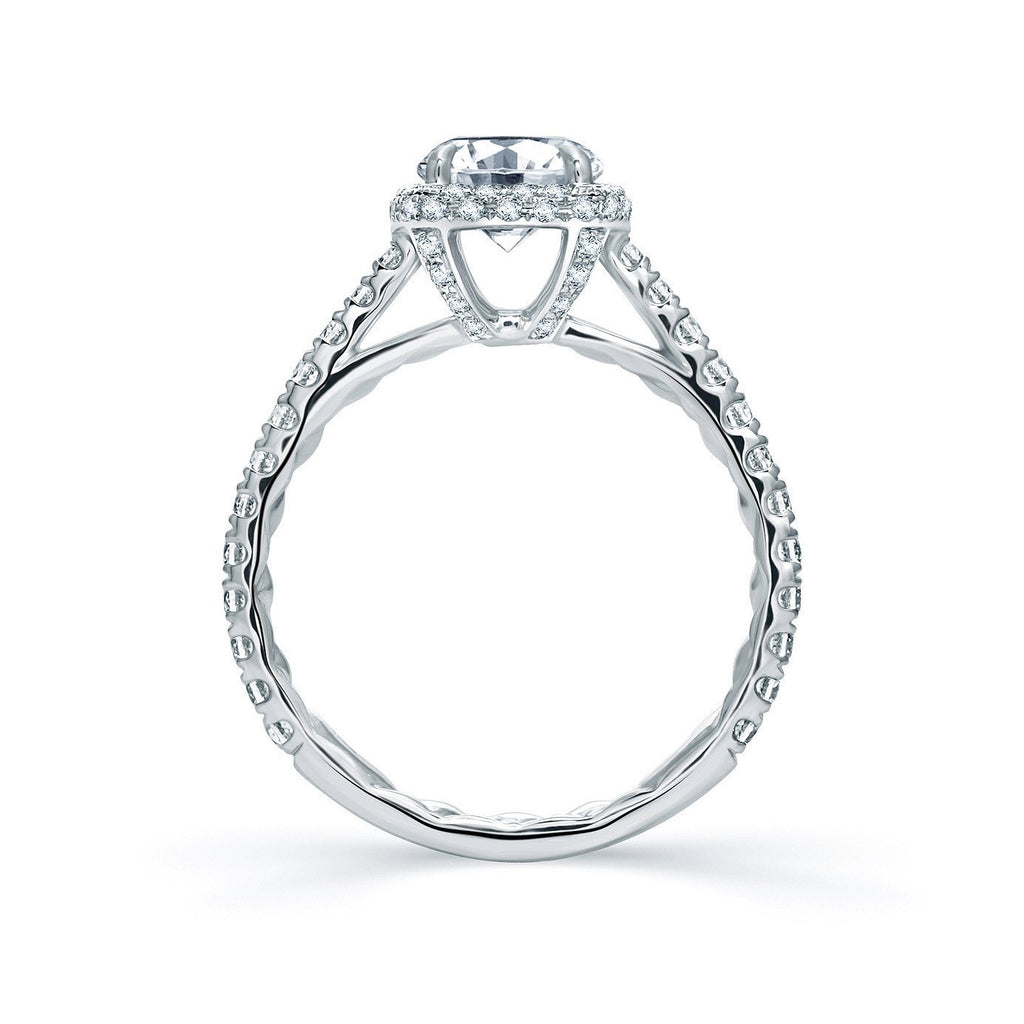 Quilted Round Halo Engagement Ring-A.JAFFE-Duncan & Boyd Jewelers