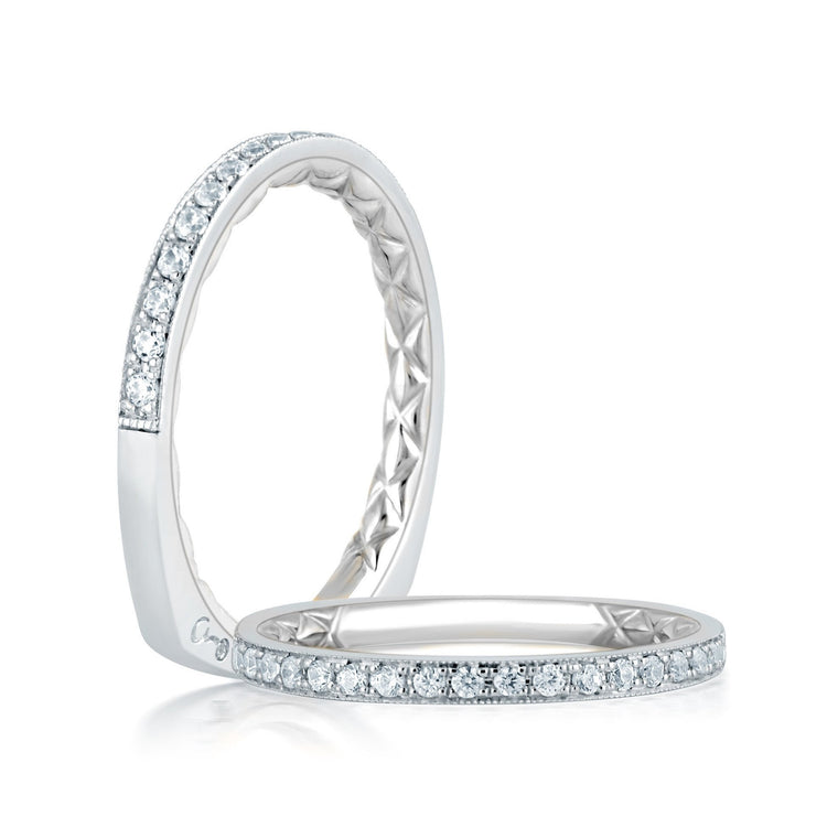 Quilted Wedding Band-A.JAFFE-Duncan & Boyd Jewelers