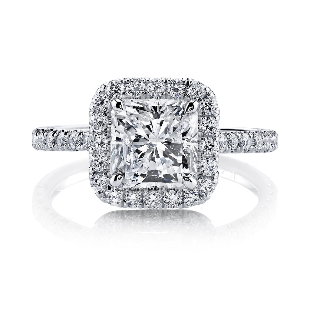 Radiant Halo Ring-Duncan & Boyd Jewelers-Duncan & Boyd Jewelers