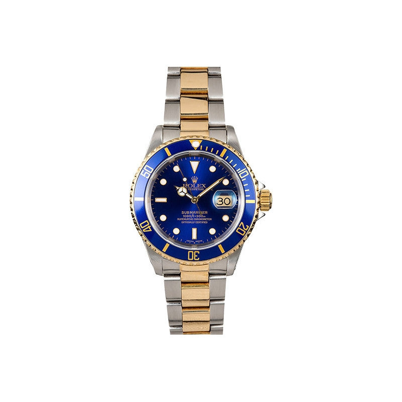 Rolex Submariner Blue Face Watch-Rolex-Duncan & Boyd Jewelers