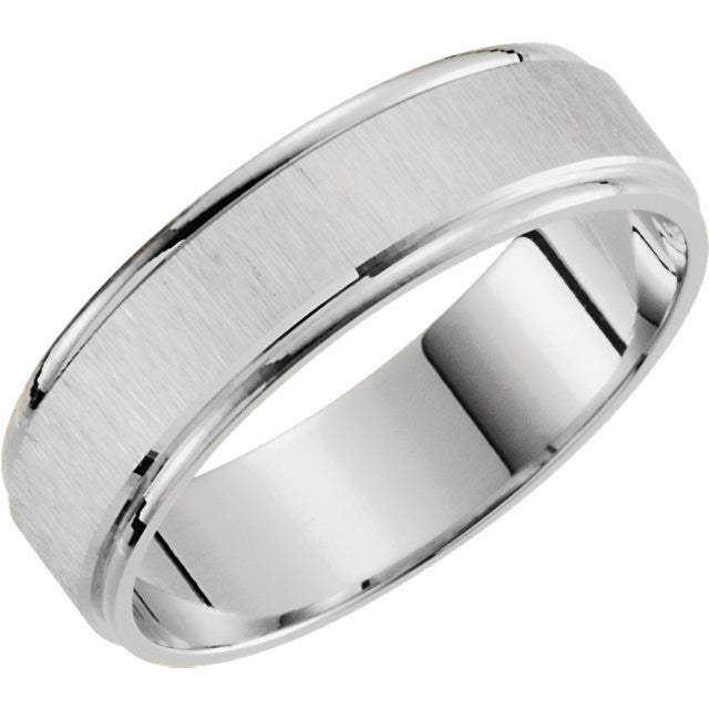 Satin Finished Wedding Band-Duncan & Boyd Jewelers-Duncan & Boyd Jewelers