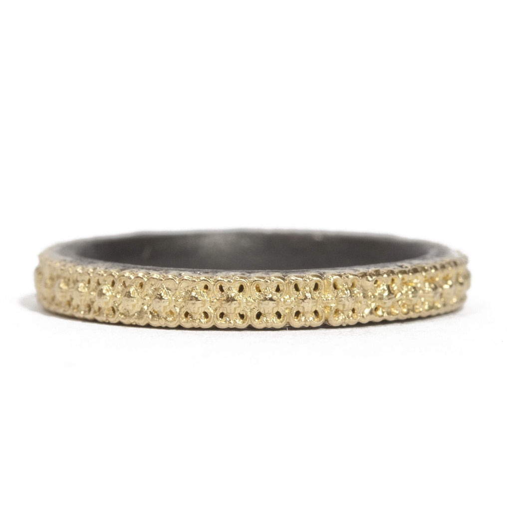 Scalloped Border Stack Ring-Armenta-Duncan & Boyd Jewelers