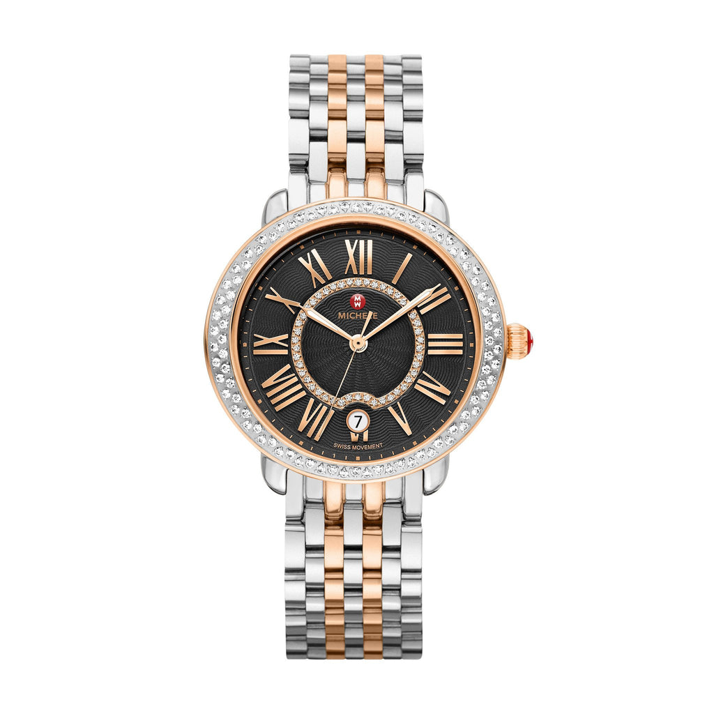 Serein Two-toned Rose Gold Watch-Michele-Duncan & Boyd Jewelers