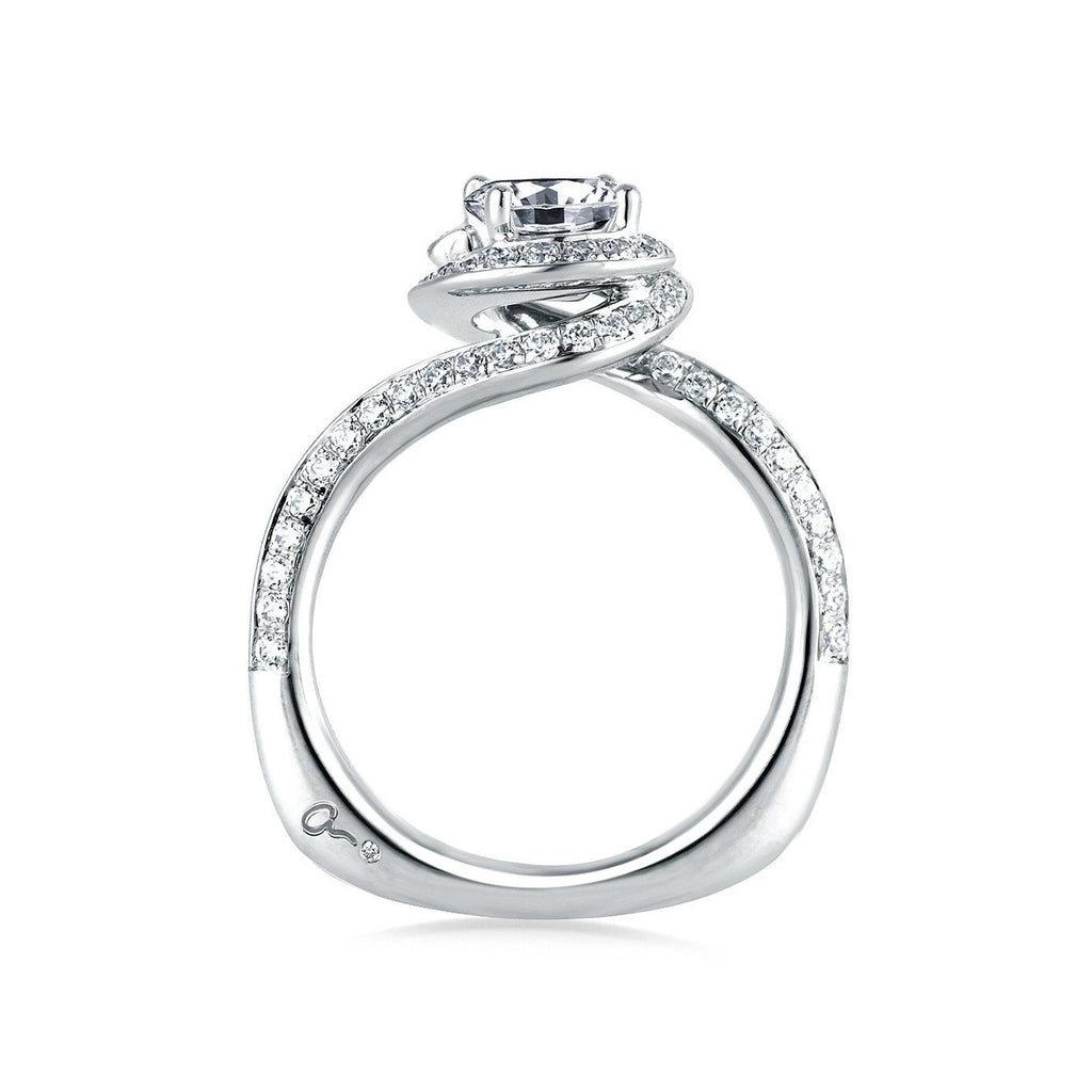 Signature Spiral Halo Engagement Ring-A.JAFFE-Duncan & Boyd Jewelers