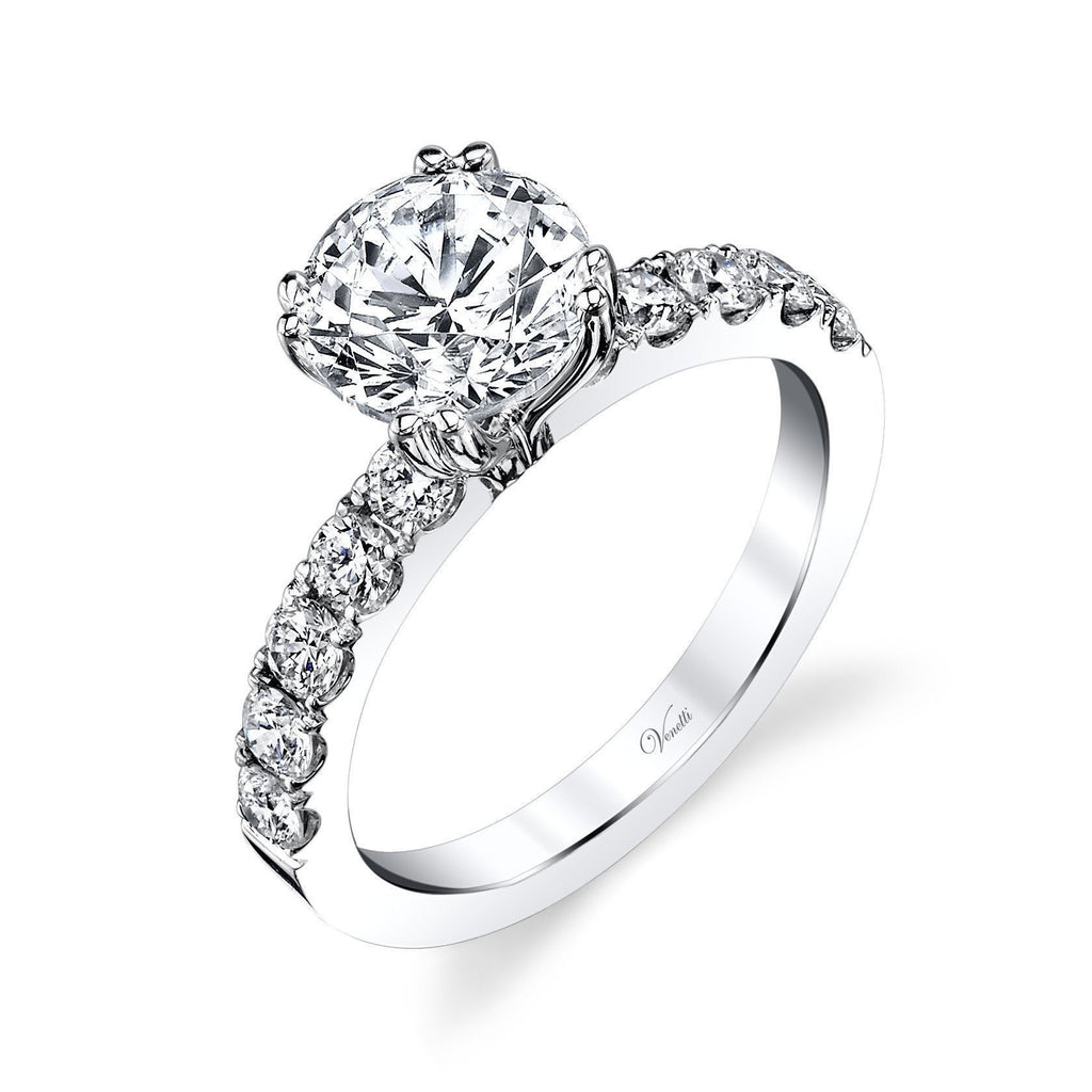 Solitaire Diamond Engagement Ring-Venetti-Duncan & Boyd Jewelers