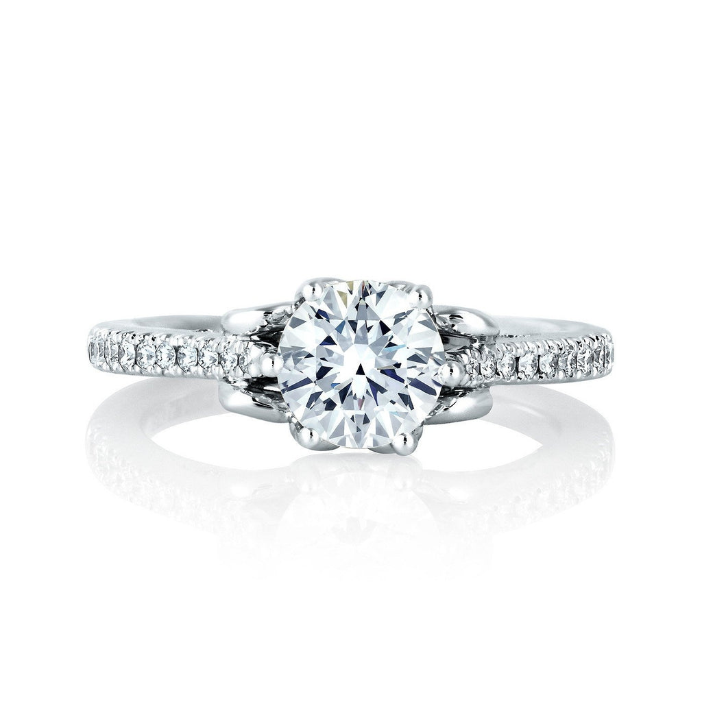 Solitaire Prong Set Engagement Ring-A.JAFFE-Duncan & Boyd Jewelers