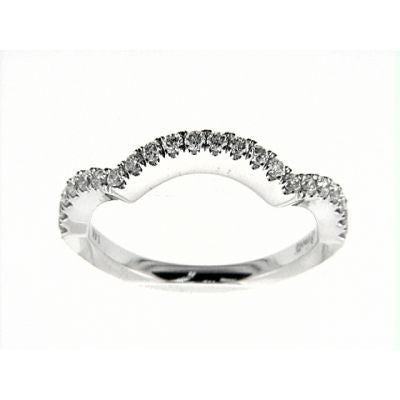 Solitaire Twisted Shank Wedding Band Set-Venetti-Duncan & Boyd Jewelers