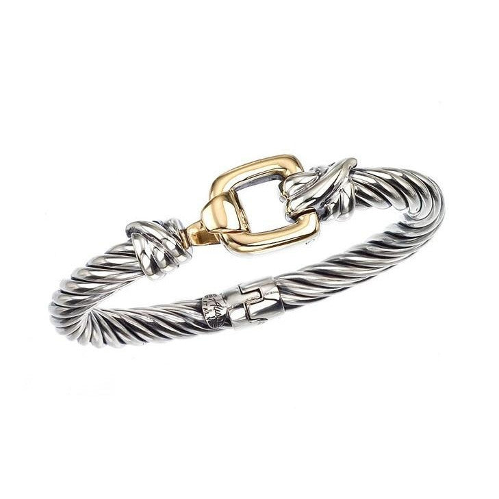 Square Buckle Bangle-Alisa-Duncan & Boyd Jewelers