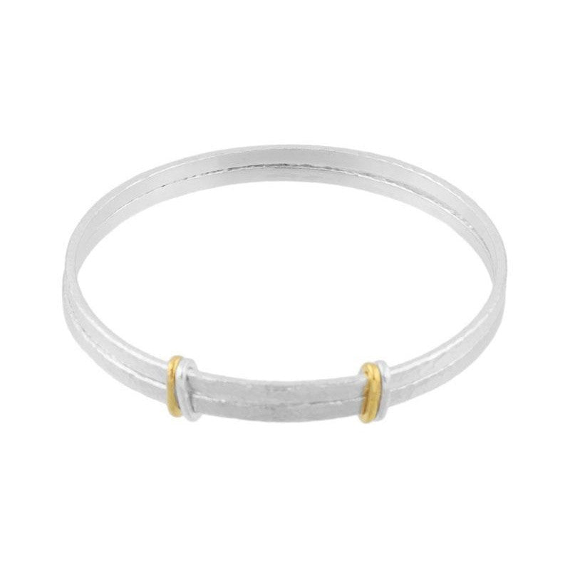 Sterling Silver Double Bangle-Gurhan-Duncan & Boyd Jewelers