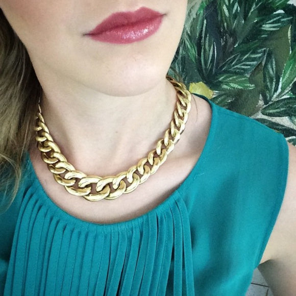 Taper Oval Link Gold Necklace-Duncan & Boyd Jewelers-Duncan & Boyd Jewelers