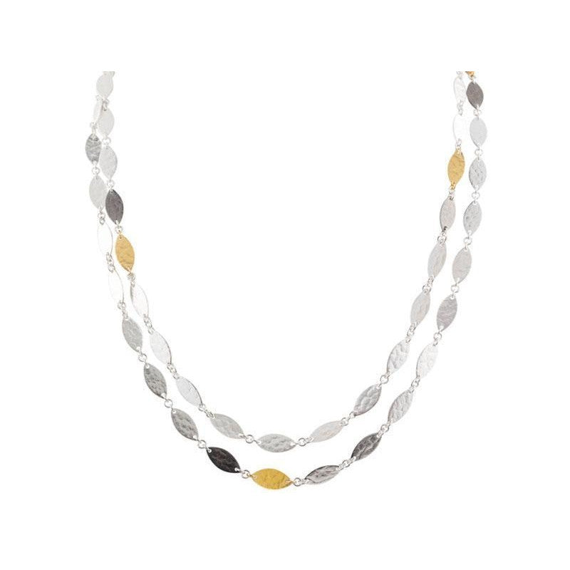 "Thin 39"" Willow Flake Necklace-Gurhan-Duncan & Boyd Jewelers"
