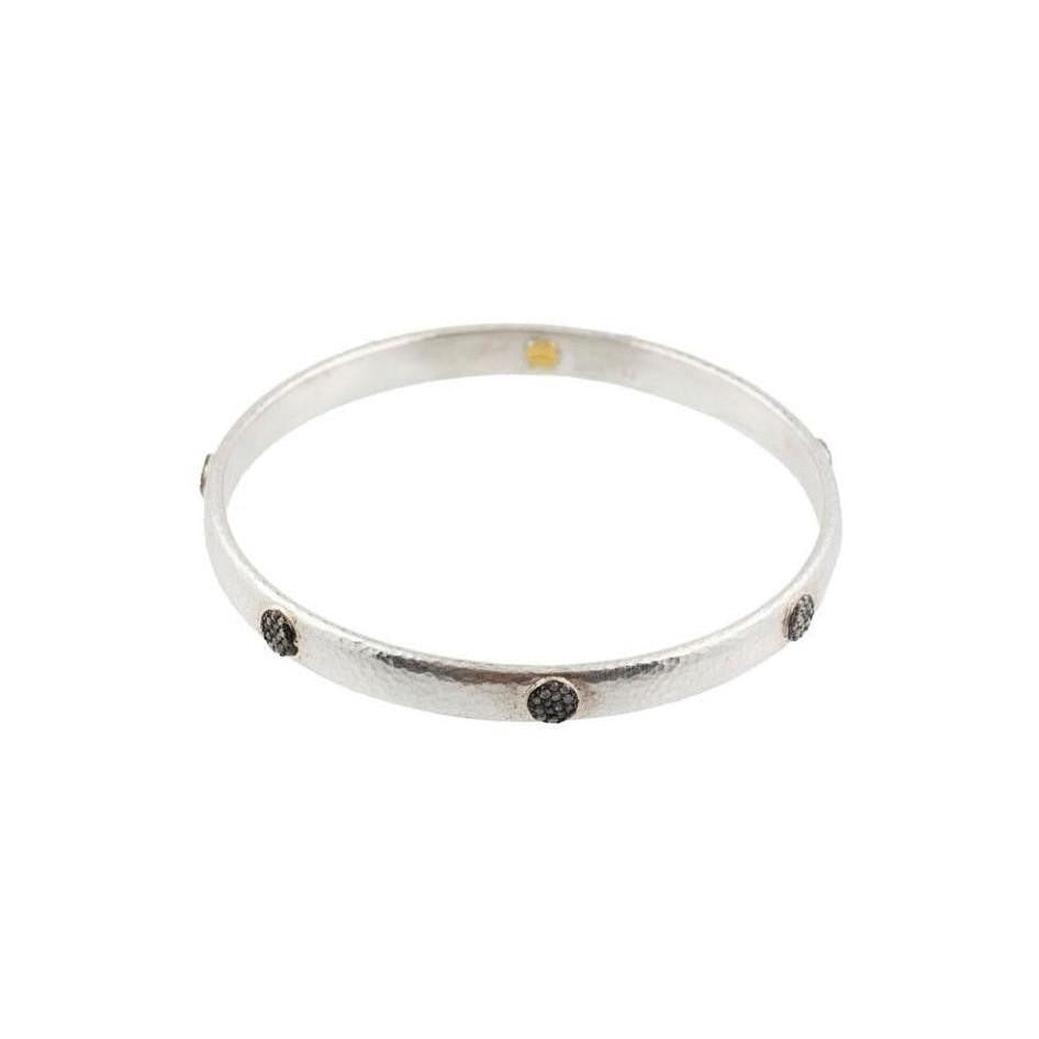 Thin Hoopla Pave Bangle-Gurhan-Duncan & Boyd Jewelers
