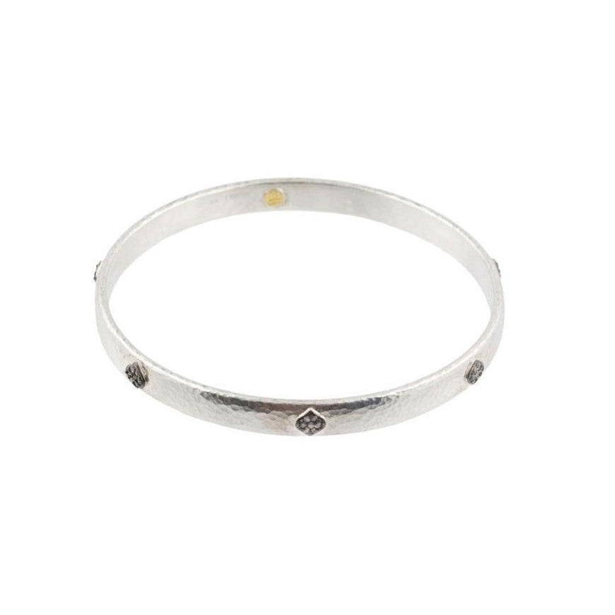 Thin Hoopla Pave Clove Bangle-Gurhan-Duncan & Boyd Jewelers